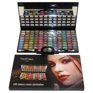 Saffron 100 Colour Cream Eyeshadow With Mirror 50g
